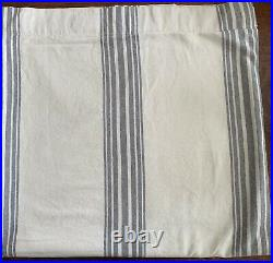 Pottery Barn Riviera French Striped Linen/Cotton Curtain Panel Charcoal 50x96