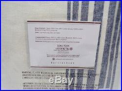 Pottery Barn Riviera Stripe Panel Drape Curtain Blackout 84 Navy Blue #4915A