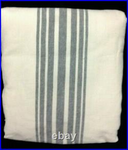 Pottery Barn Riviera Striped Linen Cotton Rod Pocket Curtain Drape Panels 50x96