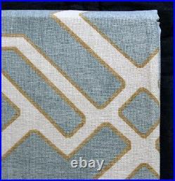 Pottery Barn SHELBY JACQUARD ORGANIC bath towel shower curtain blue 600-GRAM