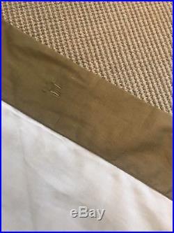 Pottery Barn SILK DUPIONI DRAPES SET OF 2 LINED panels -50 X 84 gold