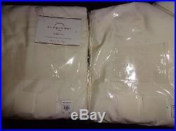 Pottery Barn SILK DUPIONI GROMMET DRAPES-SET OF 2-IVORY-50 X 84-NEWCOTTON LI