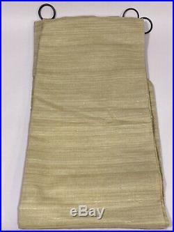 Pottery Barn Sage Green Sophia Silk Cotton Drapery Curtain Panel set 4 LOT 42x84