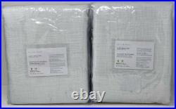 Pottery Barn Seaton Textured BLACKOUT Drape Curtain (2) 50 x 96 Gray