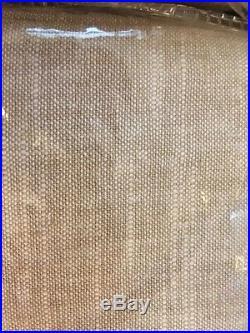 Pottery Barn Set 2 Emery Drape Oatmeal50x 96L Blackout Curtain Pole Top Pair New