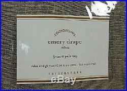 Pottery Barn Set 2 Emery Linen Cotton Blackout Drapes Panels 100 x 84 Oatmeal