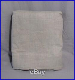 Pottery Barn Set/2 Gray Belgian Linen Unlined Drapes Panels 108 Curtains