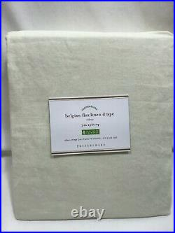 Pottery Barn Set/2 Ivory Belgian Flax Linen 96 Curtains Drapes Panels