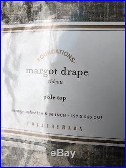 Pottery Barn Set 2 Margot Drapes Gray 96 Floral Curtain Panels Drapery Pair New