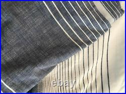 Pottery Barn Set 2 Teen Ombre Stripe Blackout Curtains Panels 52 x 84 Blue NEW