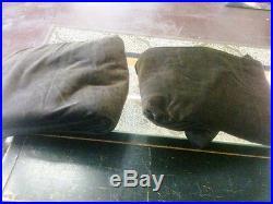 Pottery Barn Set/2 Vintage Velvet Drapes 50x 108 Espresso Brown Curtains