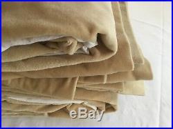 Pottery Barn Set/2 Wheat Velvet 100W x 96L Each Window Panels Curtains Drapes