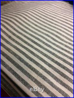 Pottery Barn Set 2 Wheaton Stripe Drape Gray 50x 84 Curtain Pair Farmhouse
