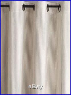Pottery Barn Set 2 Wheaton Stripe Drape Neutral 50x 84Curtain Pair Farmhouse