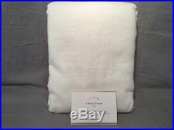 Pottery Barn Set/2 White Emery Linen/Cotton Blackout Grommet Drapes 96 Curtains