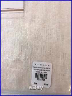 Pottery Barn Set of 2 Belgian Flax Linen Pole Pocket Drapes 50 X 96 NEW Ivory