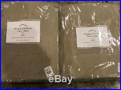 Pottery Barn Set of 2 Belgian Flax Linen Sheer Tie-Top Curtains 50 x 84 Flax