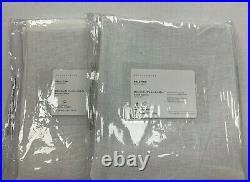 Pottery Barn Set of 2 Belgian Linen Rod Pocket Sheer Curtains Libeco 96 White