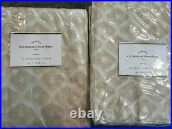 Pottery Barn Set of 2 Cala Jacquard Sheer Curtains 84 Neutral NEW