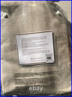 Pottery Barn Set of 2 Calhan Tweed Curtains Neutral Fleck 96 NEW