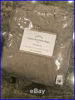 Pottery Barn Set of 2 Classic Belgian Flax Linen Curtains Cotton Lining 108