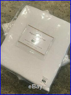 Pottery Barn Set of 2 Classic Belgian Flax Linen Curtains Cotton Lining 50 x 96