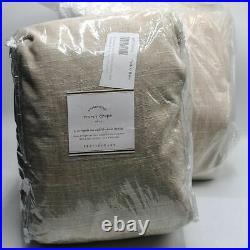 Pottery Barn Set of 2 Emery Blackout Curtain Drapes Oatmeal 100x108