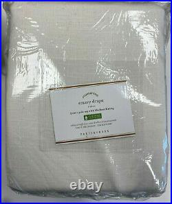 Pottery Barn Set of 2 Emery Linen/Cotton Blackout Curtains 100 x 108 White