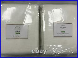 Pottery Barn Set of 2 Emery Linen/Cotton Cotton Lining Curtains 100 x 108 White