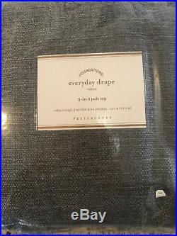 Pottery Barn Set of 2 Everyday Drapes Flagstone Gray NEW 50 x 84 3 Sets Avail