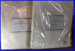 Pottery Barn Set of 2 Linen Silk Blend Drapes 50 x 84 Ivory NEW