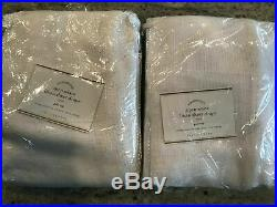Pottery Barn Set of 2 Open Weave Linen Sheer Curtains White 108 NEW