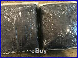 Pottery Barn Set of 2 Seaton Blackout Textured Drapes 96 Dusty Navy Blue NEW