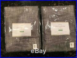 Pottery Barn Set of 2 Seaton Textured Drapes Curtains 50 x 96 GRAY NEW NWT