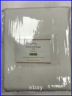 Pottery Barn Set of 2 Velvet Twill Rod Pocket Curtains 50 x 108 Ivory
