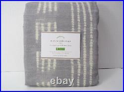 Pottery Barn Shibori Dot Blackout Lined Drape Panel Curtain 50x 96 Gray #7959