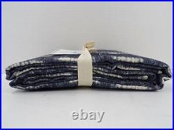 Pottery Barn Shibori Dot Rod Pocket Drape Panel Curtain 50x 84 Blue #9581
