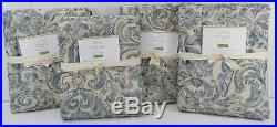 Pottery Barn Sierra Floral Print Panels Drapes Curtains 50 x 84 Blue S/ 4 #7560