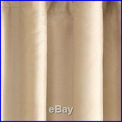 Pottery Barn Silk Dupioni 104x96 SAHARA blackout drape TWO PANELS neutral