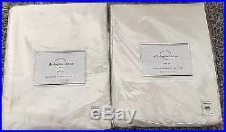 Pottery Barn Silk Dupioni 50x108 WHITE cotton lined drapes TWO PANELS NIP