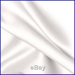 Pottery Barn Silk Dupioni 50x84 WHITE blackout drapes TWO PANELS