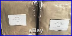 Pottery Barn Silk Dupioni 50x96 parchment cotton drape TWO PANEL neutral