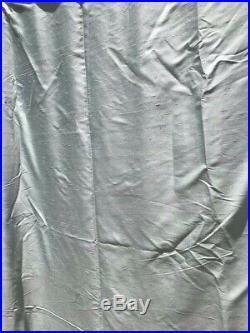 Pottery Barn Silk Dupioni Blackout Panel Curtain Blue 104 X 84 Rod Pocket Ring
