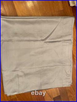 Pottery Barn Silk Dupioni Blackout Rod Pocket Curtain 50 x 96 Platinum Gray NEW