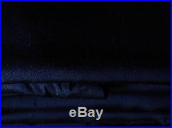 Pottery Barn Silk Dupioni Doublewide Drapery Panelsl 104x124 Navy with Bo panels
