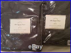 Pottery Barn Silk Dupioni Drape 50X96L New! Set of 2 Flagstone Grey