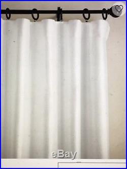 Pottery Barn Silk Dupioni Drape Double Wide 104x108 Panel Blackout Lining White
