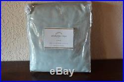 Pottery Barn Silk Dupioni Drape Doublewide 104x108 Cotton Lining Porcelain Blue