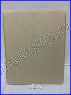 Pottery Barn Silk Dupioni Drapes Curtains Panels Cotton Lining 50x84 Parchment