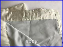 Pottery Barn Silk Dupioni Drapes Curtains Set of 2 Ivory Lined 50 x 96 in LOOK